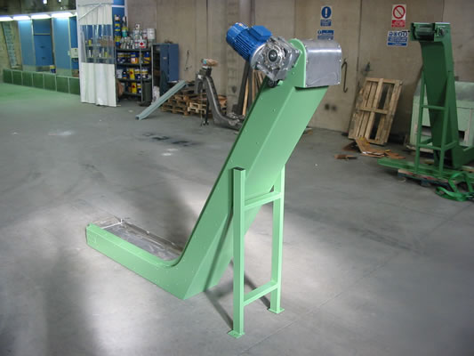 Magnetic conveyor for shearing machine unloading